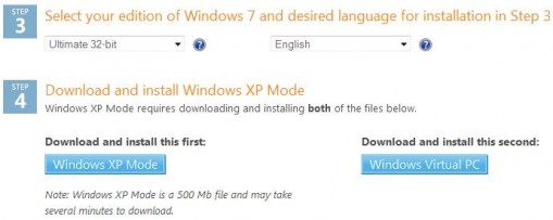 Download Windows XP Mode