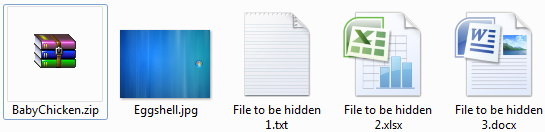 Hide file/s within a JPEG image