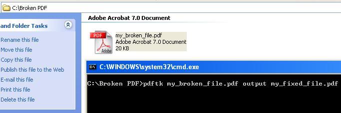 Repair PDF Files using the PDF Toolkit