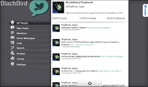 Blackbird for BlackBerry Playbook