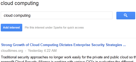 Google+ Tricks - Add interests to Sparks