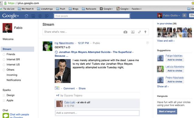 Google+ Tricks - Looks like Facebook interface