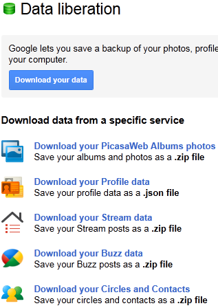 Google+ Tricks - Takeaway Service Backup 1
