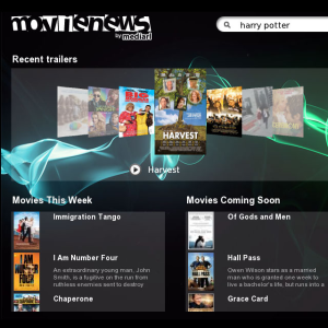 MovieNews for blackberry playbook