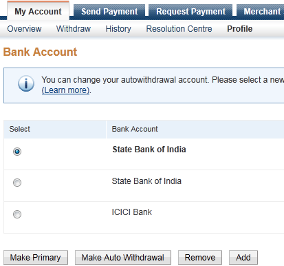 PayPal offers Make Auto Withdrawal feature to Indian users
