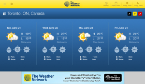 Weather Eye for blackberry playbook