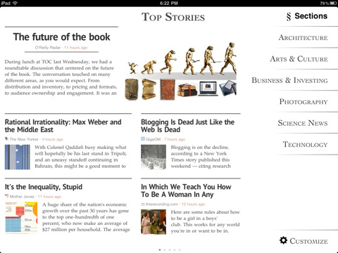 Zite - Read news on iPad