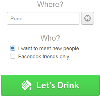 Find friends or strangers around you for a drink with LetsDrinkTonight.com