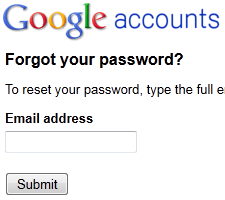 Google account password recovery 1