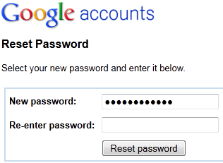 I forgot my google account password how do i reset it