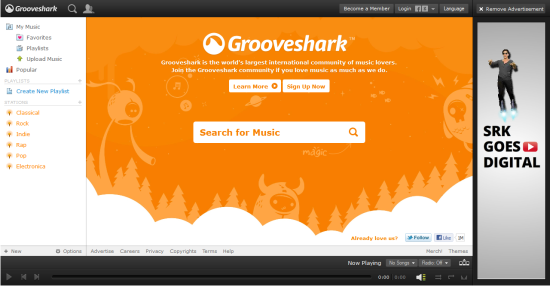 Online Services to Stream and Listen to Music GrooveShark