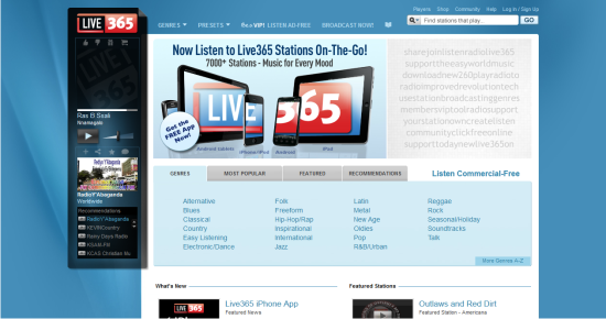 Online Services to Stream and Listen to Music Live365